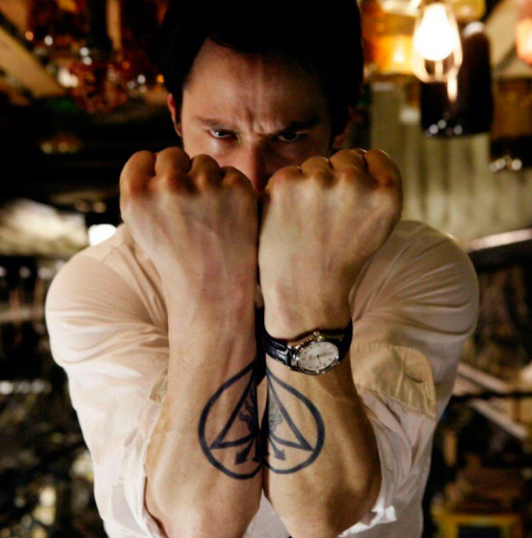 Keanu Reeves tattoo Constantine