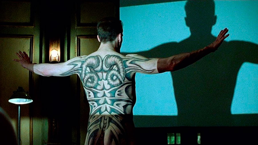 Ralph Fiennes tattoo Red Dragon