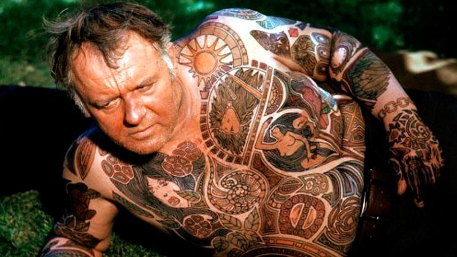 Rod Steiger tattoo El hombre ilustrado