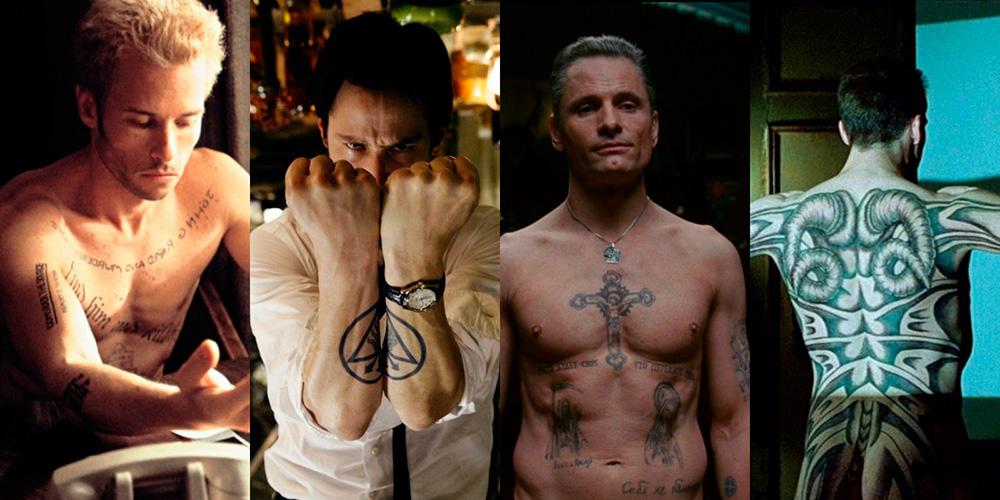 actores tatuajes en películas