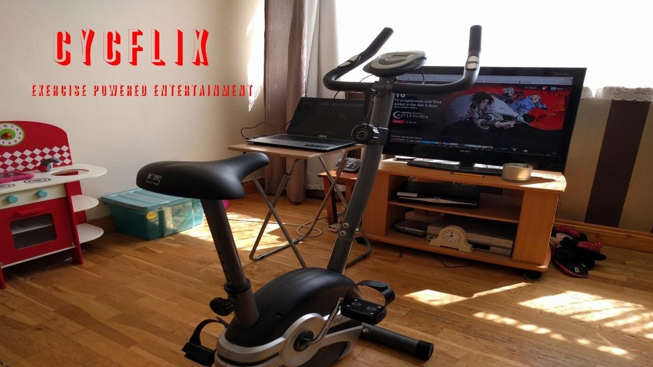Cycflix bicicleta Netflix series